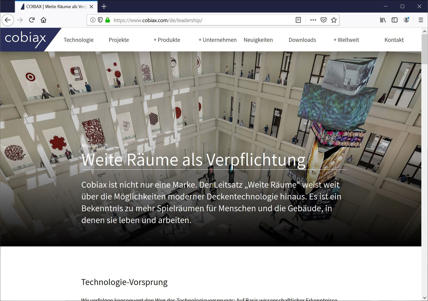 Texte Website Bauindustrie Technik
